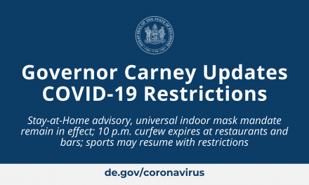 Governor Carney Updates COVID-19 Restrictions – State of Delaware News
